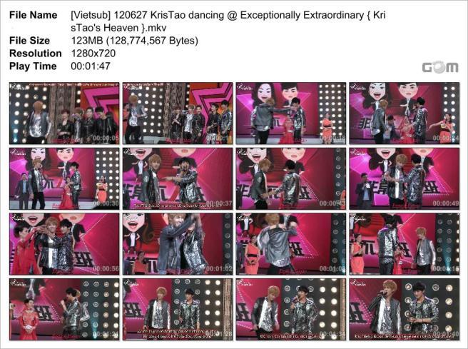 [Vietsub] 120627 KrisTao dancing @ Exceptionally Extraordinary { KrisTao's Heaven }_Snapshot
